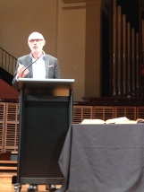 Professor Miroslav Volf delivering the Richard Johnson Lecture