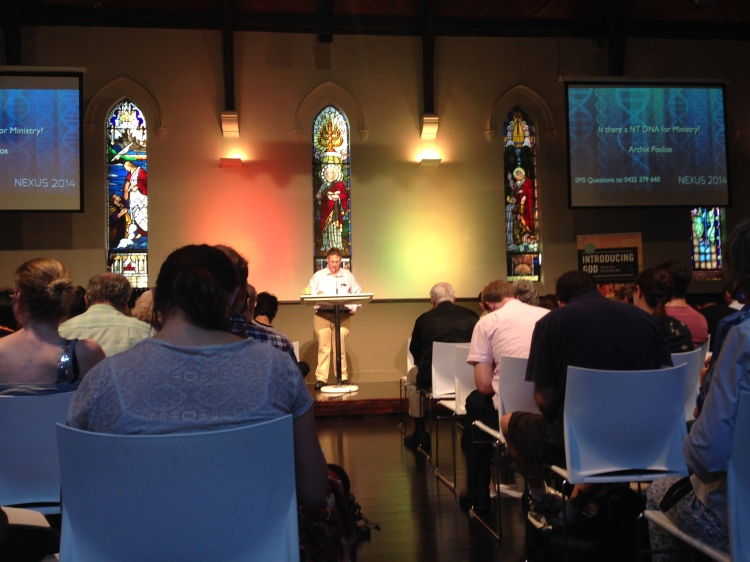 Archie Poulos speaking at Nexus Conference on what is means to have a gospel DNA in our ministry.