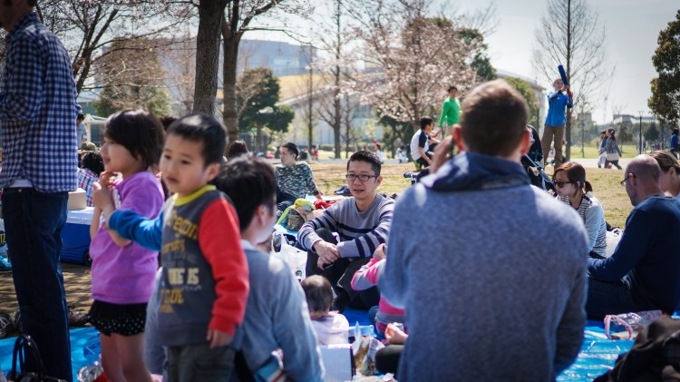 A shot from a 'hanami picnic' that we joined while our mission team was in Japan. Groups of non-believing families arrived with their kids and we had the opportunity to kick a ball around with them and do some face painting while our fluent Japanese speakers spoke to their parents.